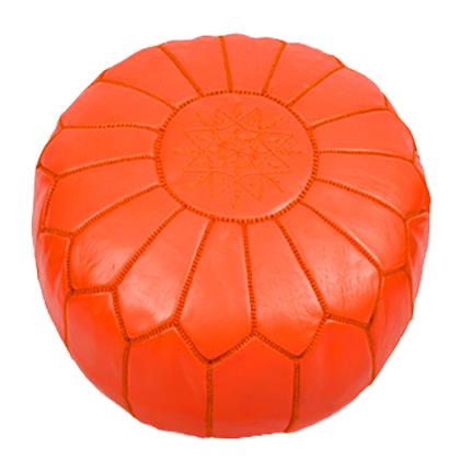 Where to find Moroccan Pouf - Orange in San Francisco